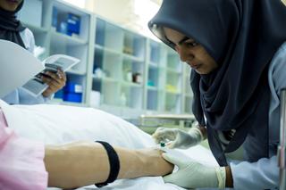 Student nurse in training