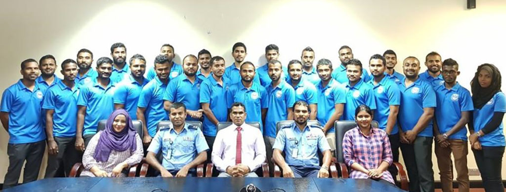 Staff and students at the Institute of Security and Law Enforcement Studies College